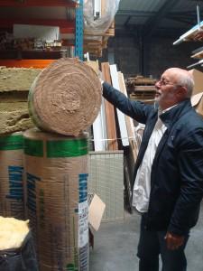 Florent Cecchini, chef d'une entreprise en isolation près de Bordeaux Photo: Valérie Doulevant