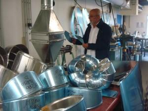 Florent Cecchini dans ses ateliers de Floirac, sans certitude pour le devenir de sa société... Photo: Valérie Doulevant