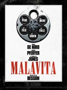 Affiche du film Malavita, sortie au cinéma le 23 octobre 2013 en France