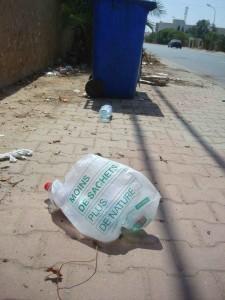 L'écologie n'est pas oubliée en Tunisie... Photo: Valérie Doulevant
